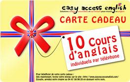 Les cartes cadeaux pour apprendre et parler anglais - Carte cadeau cours de cuisine ...